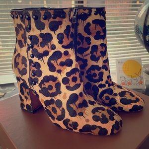 Coach Leopard Print boots size 8